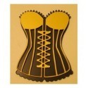 corset 60 a lacet pour scrapbooking ou carterie