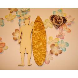 Surfeur et sa planche 02085