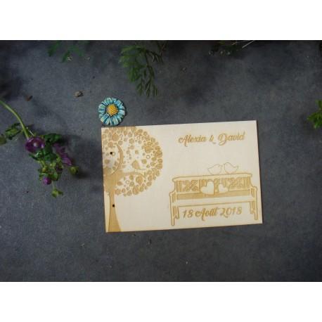 Livre d'or mariage 02100 en bois