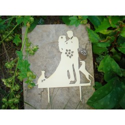 Cake topper mariage avec mes compagnons 02097