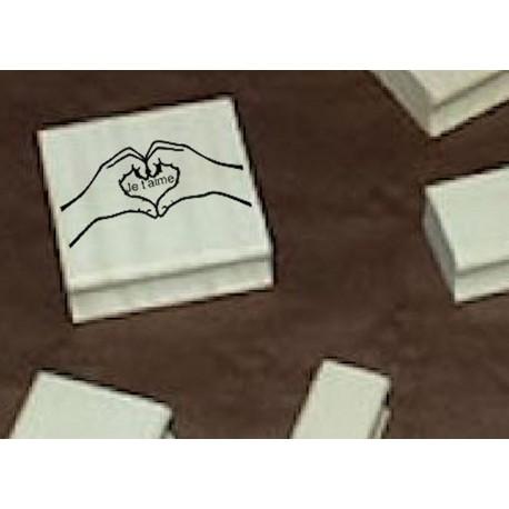 Tampon je t aime TC256 5 x 5 cm