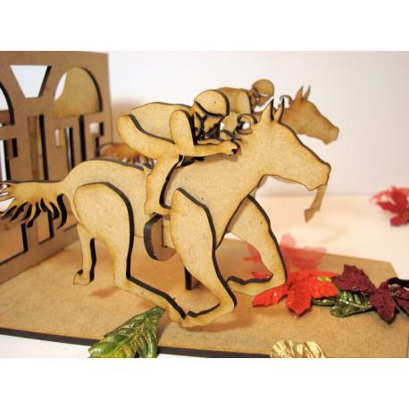 Pot à crayon original course chevaux 02219