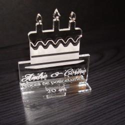 Gateau anniversaire marque place 2012 avec gravure
