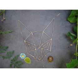 Tête de renard 02098 embellissement en bois pour vos créations