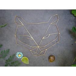 Tête de loup 02099 embellissement en bois pour vos créations