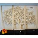 Arbre triptyque 02345 panneau bois collections décoration intérieur