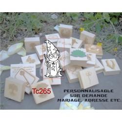 Tampon le magicien TC265 5x5 cm
