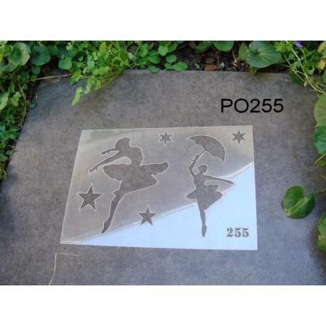 Pochoir ballerine P0255 pour vos pages, vos cartes, vos murs