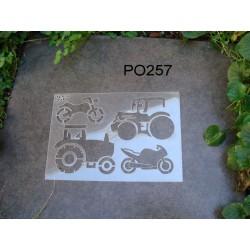 Pochoir transport P0257 pour vos pages, vos cartes, vos murs