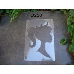 Pochoir princesse P0258 pour vos pages, vos cartes, vos murs