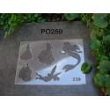 Pochoir princesse P0259 pour vos pages, vos cartes, vos murs