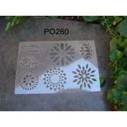 Pochoir feuille fleur P0260 pour vos pages, vos cartes, vos murs