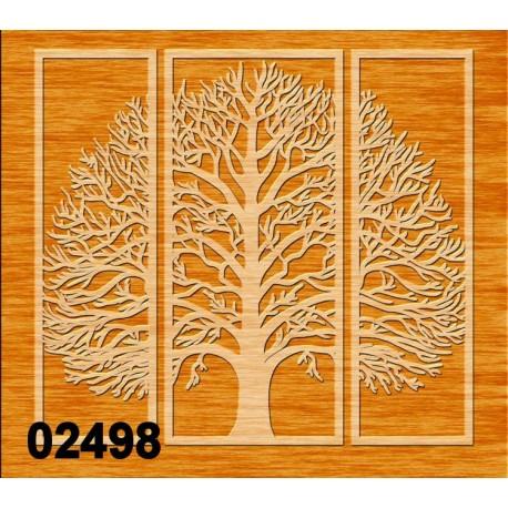 Arbre triptyque 02398 panneau bois collections décoration intérieur