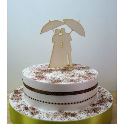 Cake topper 02478 je rajoute le texte de votre choix mariage haut de piece montée