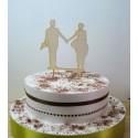 Cake topper 02477 je rajoute le texte de votre choix mariage haut de piece montée