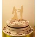 Cake topper 02476 je rajoute le texte de votre choix mariage haut de piece montée