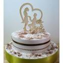 Cake topper 02482 Pour votre mariage haut de piece montée Anniversaire