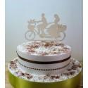 Cake topper 02488 à vélo décoration gateau de mariage fiançailles