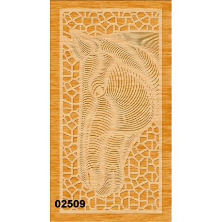 Tête de cheval 02509 panneau en bois collections décoration intérieur cadeau