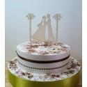 Cake topper 02489 décoration gateau de mariage fiançailles