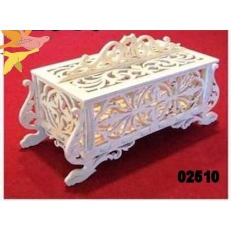 Boite décorative 02512 cadeau, collection bois avec ou sans peinture
