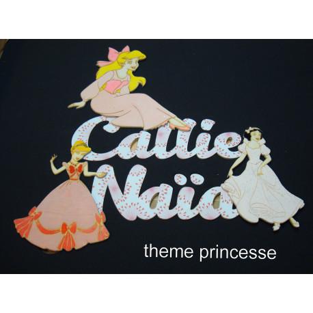 Prénom enfants prêt a poser théme princesse